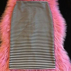 FOREVER 21 Striped Pencil Skirt size small
